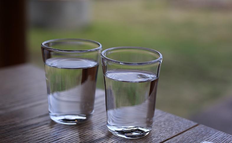 お店で出されるガラスのグラス