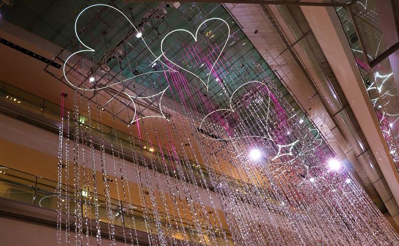 表参道ヒルズクリスマス2018イルミネーション01