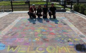 奈良本店  路上絵イベント「みんなで大きなお花畑を描こう!」開催しました